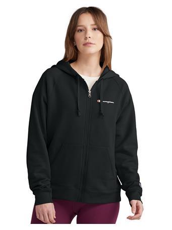 CHAMPION - Powerblend Fleece Full Zip Hoodie BLACK