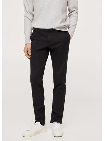 MANGO - Slim Fit Serge Chino Trousers BLACK