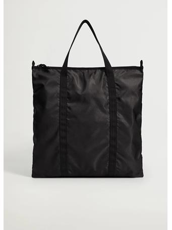 MANGO - Nylon Tote Bag BLACK