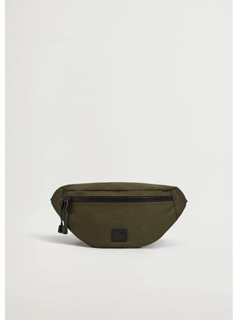 MANGO - Canvas Belt Bag With Zipper GREY
