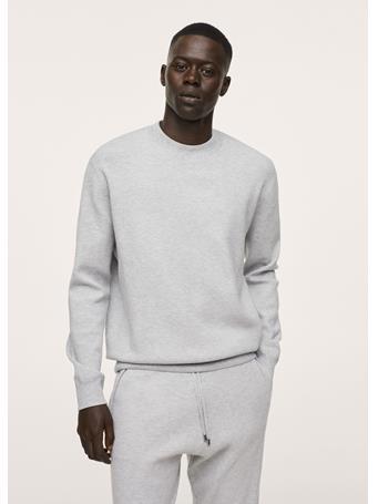 MANGO - Textured Knit Sweatshirt GREY