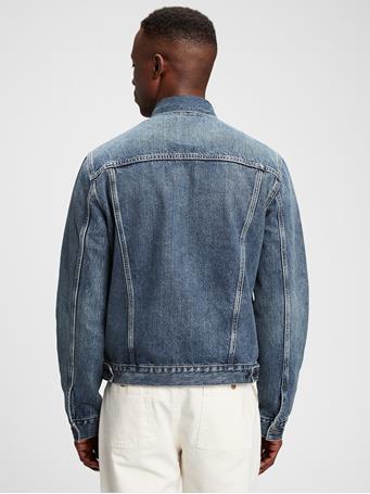 GAP - Icon Denim Jacket With Washwell MEDIUM INDIGO 4