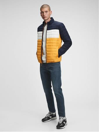 GAP - ColdControl Colorblock Puffer Jacket RUGBY GOLD