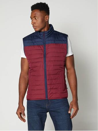 GAP - ColdControl Color-block Puffer Vest BLACK MOSS