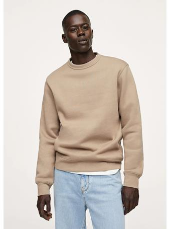MANGO - Plush Cotton Sweatshirt CAMEL
