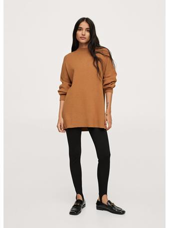 MANGO - Oversize Knit Sweater MEDIUM BROWN
