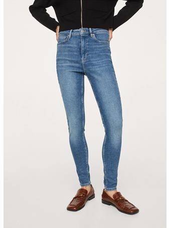 MANGO - Soho High-waist Skinny Jeans MEDIUM BLUE