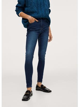 MANGO - Soho High-waist Skinny Jeans NAVY