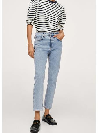 MANGO - Ankle-length Straight-fit Jeans LT-PASTEL BLUE