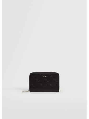 MANGO - Engraved Chain Wallet BLACK