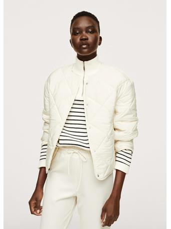 MANGO - Ultralight Button Down Jacket NATURAL WHITE