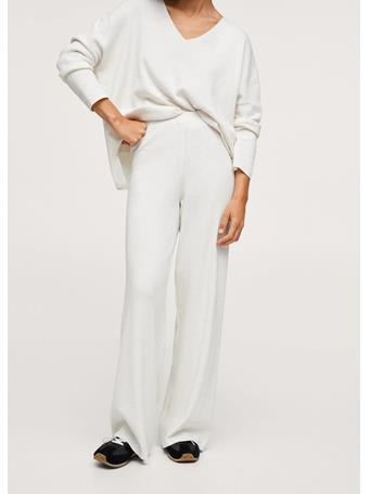 MANGO - Cotton Knitted Pants NATURAL WHITE