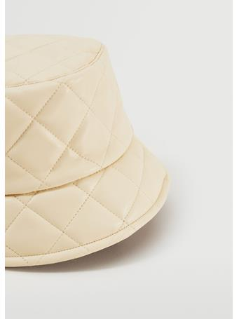 MANGO - Leather Effect Bucket Hat NATURAL WHITE