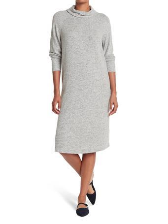 MAGGY LONDON - Turtle Neck Raglan Dress GREY MARL