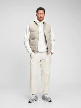 GAP - 100% Recycled Nylon Puffer Vest FOSSIL 007