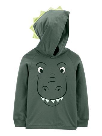 CARTER'S - Dinosaur Jersey Hooded Tee GREEN