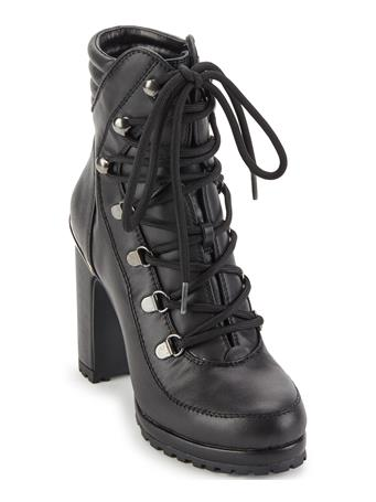 DKNY - Lenni Thick Heel Ankle Boot BLACK
