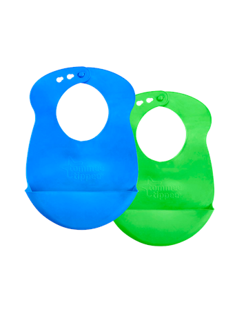 TOMMEE TIPPEE - Roll'n'Go Bib 2 Pack NO COLOR