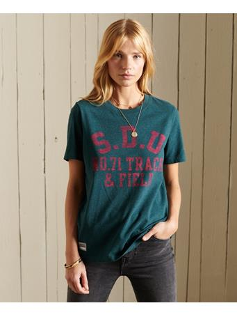 SUPERDRY - Track and Field Tee Pine Marl