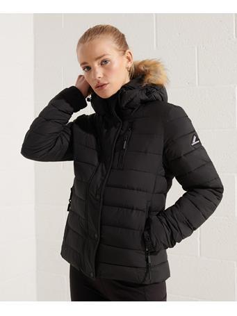SUPERDRY - Classic Faux Fur Fuji Jacket Black