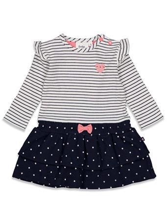 FEETJE - SWEETHEART Stripe and Print Dress IVORY