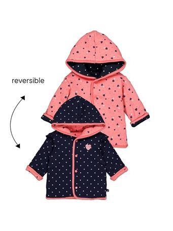 FEETJE - SWEETHEART Reversible jacket with hood NAVY