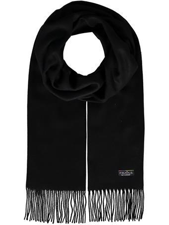 V.FRAAS - Cashmink scarf with fringe 990 BLK