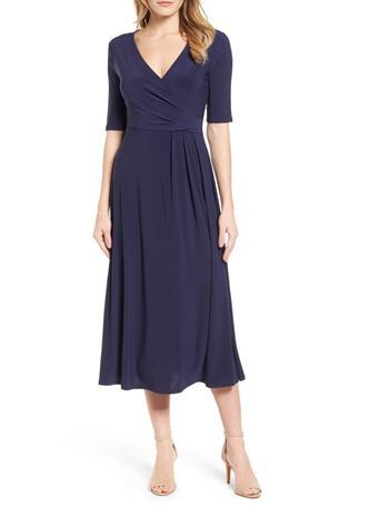 CHAUS - Laura Wrap Dress  529-EVENING NAVY