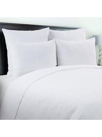 C&F - Scallop Shell Quilt Set WHITE