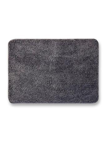 DELUXE - Quick Drying Plush Microfiber Bath Mat METAL GREY