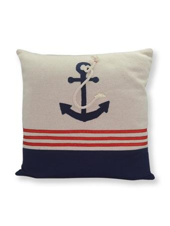 Decorative Pillow Anchor With Rope WHITE
