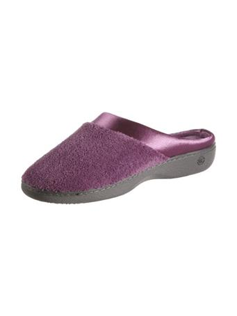 ISOTONER - Microterry Satin Clog Slipper VIOLET