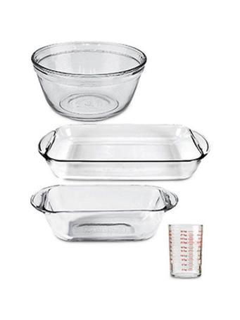 ANCHOR HOCKING - 4 Piece Glass Bakeware Set No Color