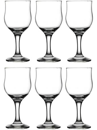 CIRCLEWARE - Concord Street 6-Piece Set - 8OZ Red Wine Glasses No Color