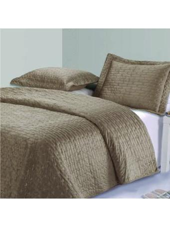 MAISON LUXE - Tressa Coverlet Set - King 12-TAUPE