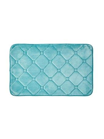 DELUXE BATH COLLECTION -  Memory Foam Bath Mat BLUE