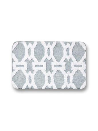 4 Dimensional Jacquard Bath Mat GREY