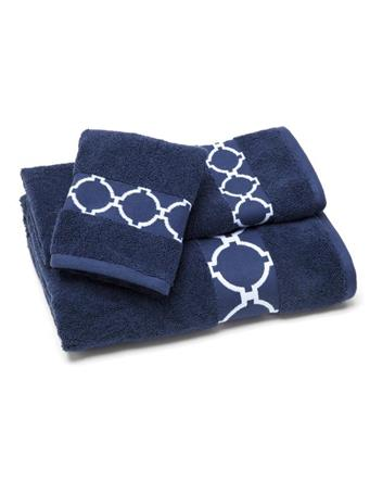 JILL ROSENWALD - Hampton Links Bath Towel NAVY