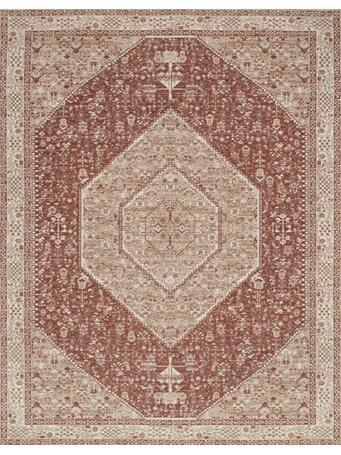 MAGNOLIA HOME - Tristin Rug Collection BRICK/BONE