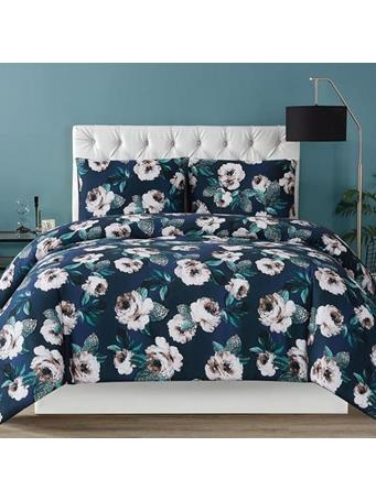 CHRISTIAN SIRIANO - Mags Floral 3 Piece Duvet Set NAVY