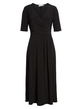 CHAUS - Linda Roll-Tab Shirt Dress RICH BLACK