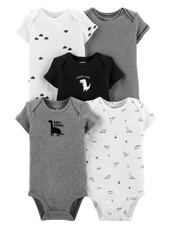 CARTER'S - 5 Pack Short Sleeve Bodysuit  No Color