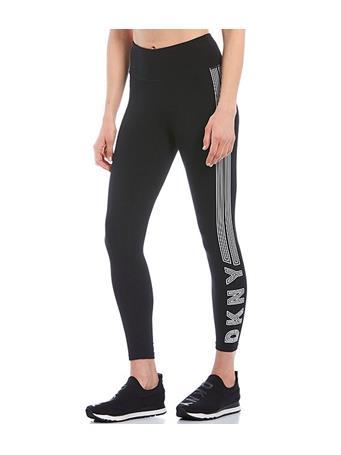 DKNY - High Waist 7/8 Legging with Track Logo BLACK