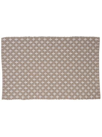 HOME ESSENTIALS - Cotton Scatter Rug-Beige Cross Stitch BEIGE XSTITCH