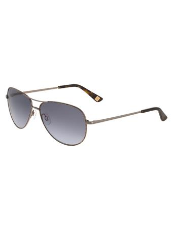 ANNE KLEIN Aviator Frame Sunglasses GUN