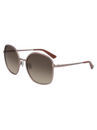 ANNE KLEIN Square Shape Sunglasses ROSEGOLD