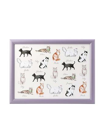 DMD - Pastel Cats Lap Tray LILAC