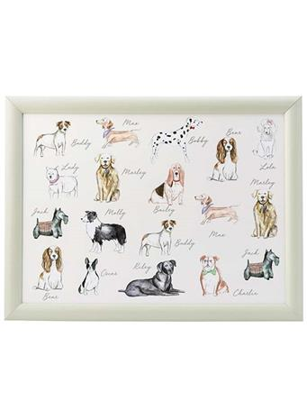 DMD - Pastel Dogs Lap Tray WHITE