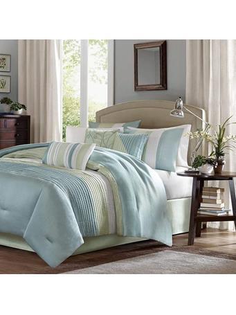 Comforter Amherst Polyoni 7 Piece Set GREEN