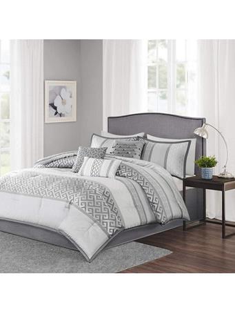 Comforter Bennett 7 Piece Set GREY
